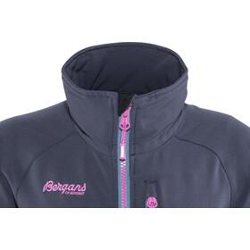 Bergans Kjerag Jacket Youth Girls Navy/Steel Blue/Pink Rose